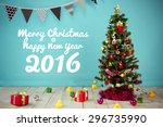 christmas with decorated item... | Shutterstock . vector #296735990