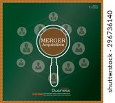 merger acquisition. merger... | Shutterstock .eps vector #296736140