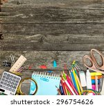 school  design  background. | Shutterstock . vector #296754626