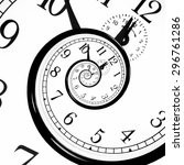 time warp   time dilation.... | Shutterstock . vector #296761286