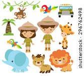 safari vector illustration | Shutterstock .eps vector #296762498