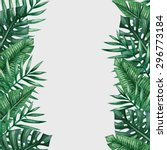 palm tree leaves background... | Shutterstock .eps vector #296773184