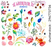 watercolor vector collection.... | Shutterstock .eps vector #296773736
