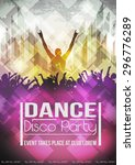 abstract grunge party template  ... | Shutterstock .eps vector #296776289