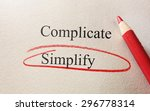 simplify and complicate red... | Shutterstock . vector #296778314