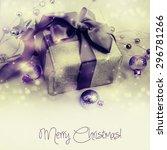 christmas gift. | Shutterstock . vector #296781266