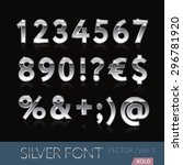 chrome  metal  silver  alphabet ... | Shutterstock .eps vector #296781920