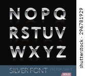 chrome  metal  silver  alphabet ... | Shutterstock .eps vector #296781929
