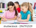 maths  child  classroom. | Shutterstock . vector #296791529