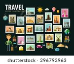 travel  journey. icons set.... | Shutterstock .eps vector #296792963
