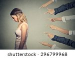 concept of accusation guilty... | Shutterstock . vector #296799968