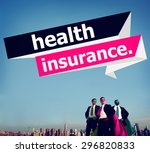 health insurance protection... | Shutterstock . vector #296820833