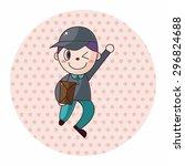 deliveryman theme elements...   Shutterstock .eps vector #296824688