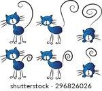 vector cat | Shutterstock .eps vector #296826026