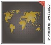 map world vector paper white on ... | Shutterstock .eps vector #296832020
