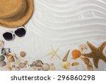 summer and beach concept. sandy ...   Shutterstock . vector #296860298