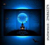 vector design of the brochure... | Shutterstock .eps vector #296862374