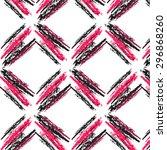 ikat ogee background pattern | Shutterstock .eps vector #296868260