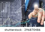 close up of businessman... | Shutterstock . vector #296870486