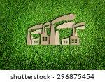paper cut of eco on green grass | Shutterstock . vector #296875454