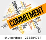 commitment word cloud  business ... | Shutterstock .eps vector #296884784