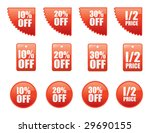 a set of sale and reduced signs | Shutterstock .eps vector #29690155