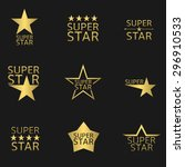 golden super star logo icon set.... | Shutterstock .eps vector #296910533