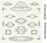 Art Deco Style Linear Geometri...