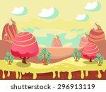 cartoon fairy tale landscape.... | Shutterstock .eps vector #296913119