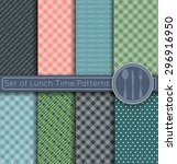 set of pattern lunch time... | Shutterstock .eps vector #296916950