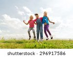 summer  childhood  leisure and... | Shutterstock . vector #296917586