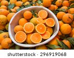 Oranges In A Silver Metal...