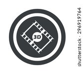 film strip with text 3d in...