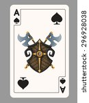 ace of spades playing card.... | Shutterstock .eps vector #296928038