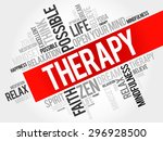 therapy word cloud concept | Shutterstock .eps vector #296928500