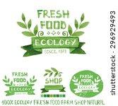 organic fresh food bio ecology... | Shutterstock .eps vector #296929493