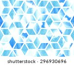 watercolor geometric pattern in ... | Shutterstock .eps vector #296930696
