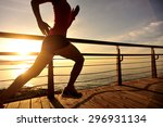young fitness woman legs... | Shutterstock . vector #296931134