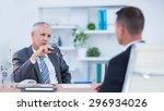 two serious businessmen... | Shutterstock . vector #296934026