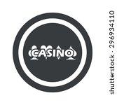 casino logo in circle  on black ...