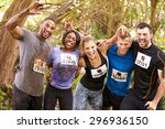 competitors celebrate... | Shutterstock . vector #296936150