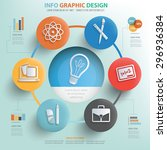 idea and learning concept info... | Shutterstock .eps vector #296936384