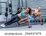 portrait of a muscular couple... | Shutterstock . vector #296937479