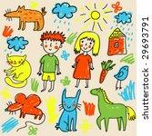 Children Drawing   Cute Cartoo...