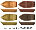 set of different color wooden... | Shutterstock .eps vector #296939888