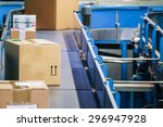 parcels on conveyors with... | Shutterstock . vector #296947928