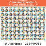 big icon set design universal... | Shutterstock .eps vector #296949053