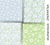 Vector Set Of Four Blue And...