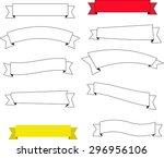 set of modern ribbons for... | Shutterstock .eps vector #296956106