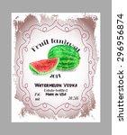 vintage fruit alcohol label.... | Shutterstock .eps vector #296956874